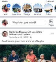 Скриншоты facebook